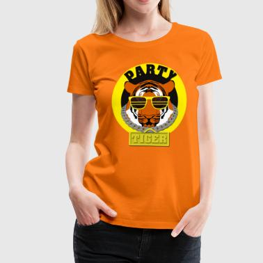 Glass Tiger Party Tiger - Women's Premium T-Shirt