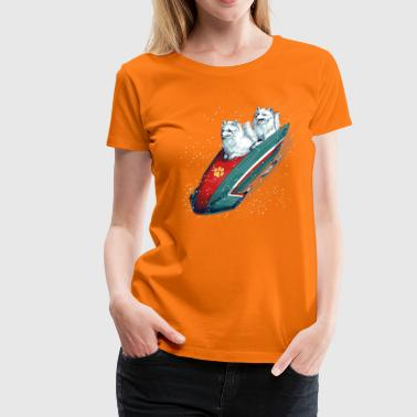 Arctic Fox Bobsleigh - Frauen Premium T-Shirt