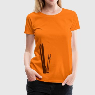 Old wooden skis Ski T-shirt  - Women's Premium T-Shirt