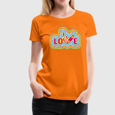 Love Pop Art Eye - T-shirt Premium Femme