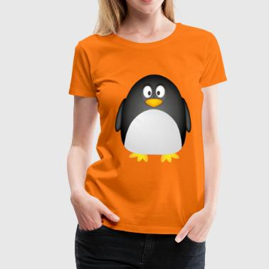 Comic-Pinguin - Frauen Premium T-Shirt