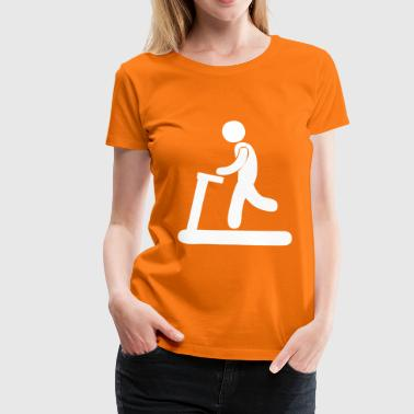Treadmill Joggers on treadmill. - Women's Premium T-Shirt