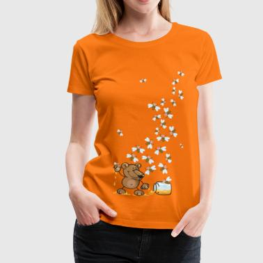 The bear, the honey and many bees - Women's Premium T-Shirt