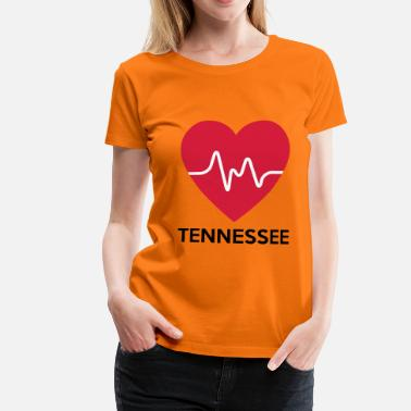 Tennessee corazón Tennessee - Camiseta premium mujer