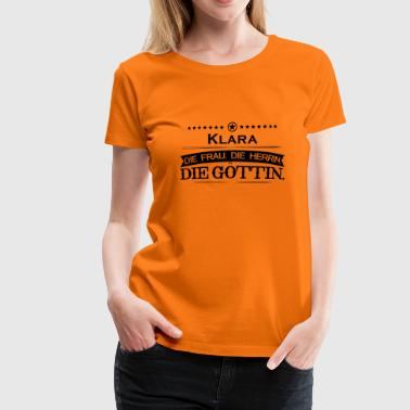 Clara birthday legend goettin clara - Women's Premium T-Shirt