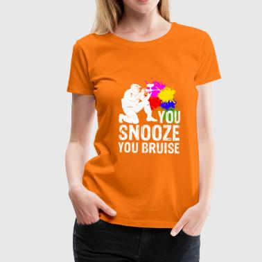 Snoring means pain paintball speedball - Women's Premium T-Shirt