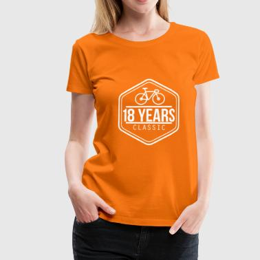 Vintage Awesome Super Cool Awesome 18 Years Classic Vintage - Camiseta premium mujer