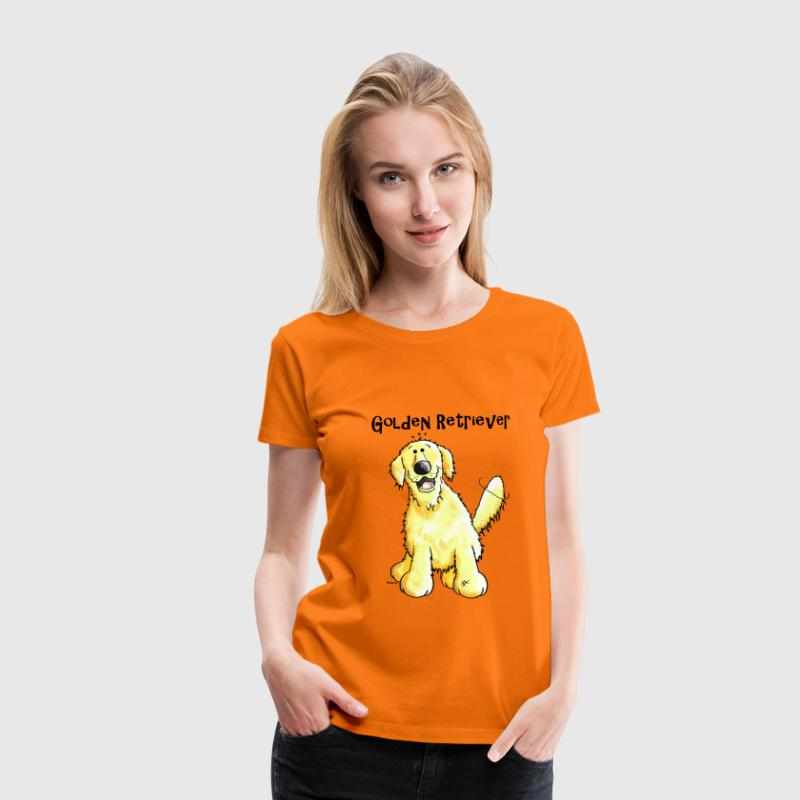 Golden Retriever - T-shirt Premium Femme