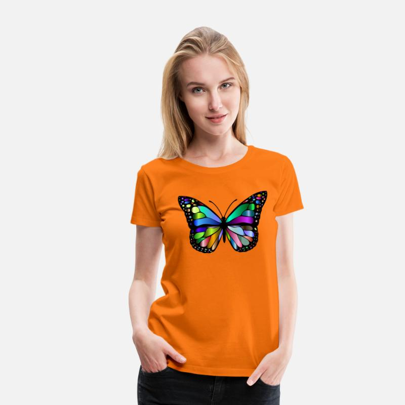 Papillon T-shirts - papillon coloré - T-shirt premium Femme orange