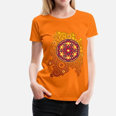 Blume Blume des Lebens / flower of life POWER - Frauen Premium T-Shirt