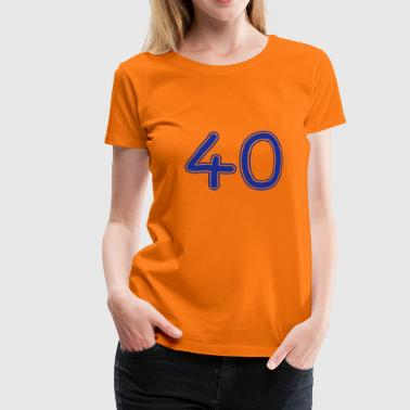 number_forty_1c - Women's Premium T-Shirt