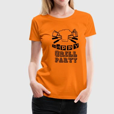 Happy Grillparty - Frauen Premium T-Shirt