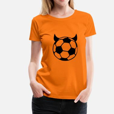 Devil Ball Soccer Ball Devil - Women's Premium T-Shirt