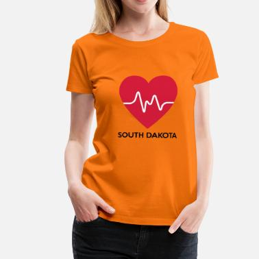 South Dakota Heart South Dakota - Women's Premium T-Shirt