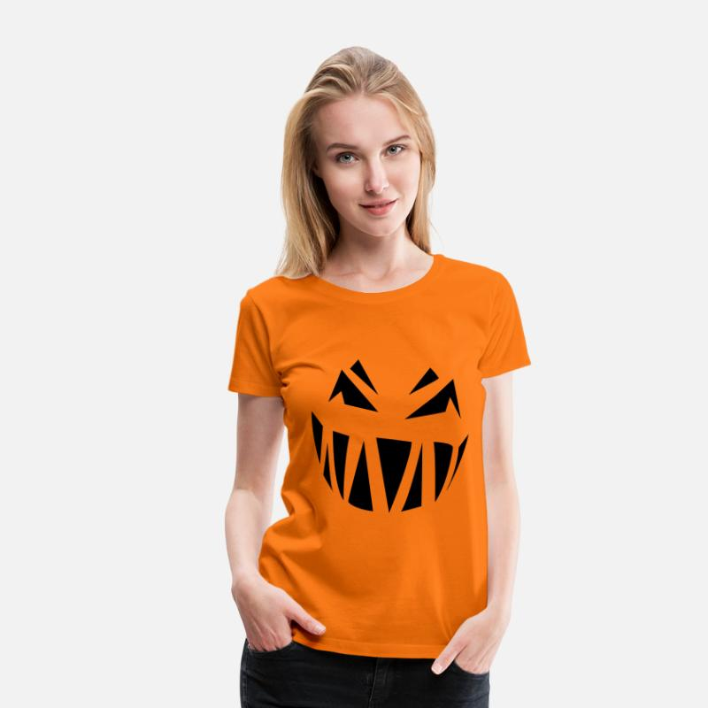 Bébé T-shirts - MECHANTE CITROUILLE HALLOWEEN - T-shirt premium Femme orange