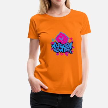 Graffiti Power Waldorf Power - Camiseta premium mujer