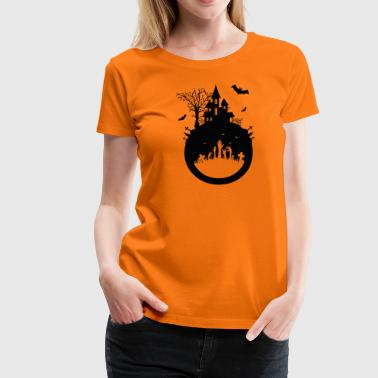 Haunted House - Halloween Design - Frauen Premium T-Shirt