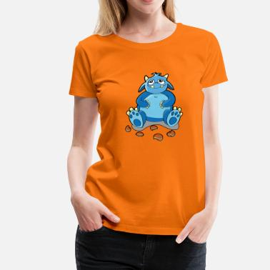 Cookie Monster Cookie monster - hunger, crumbs - Women's Premium T-Shirt