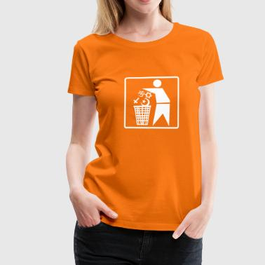 No Religion No Religion Pictogram - Frauen Premium T-Shirt