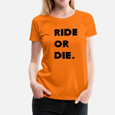 Paul Walker ride or the car - Women's Premium T-Shirt