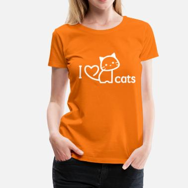 I Love Cats Cats Design - I love cats - Naisten premium t-paita