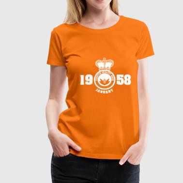 Birthday January 1958 - Women's Premium T-Shirt