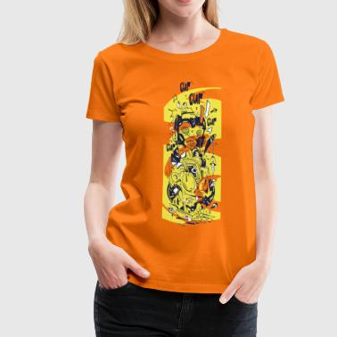 Chimp Jolly Chimp - Frauen Premium T-Shirt