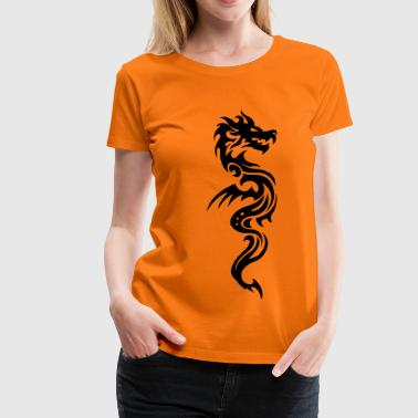 Dragon Tribal tribal dragon - T-shirt Premium Femme