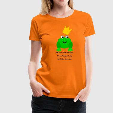 Kissing Frog single saying Frog Prince Frogs kissing - Women's Premium T-Shirt