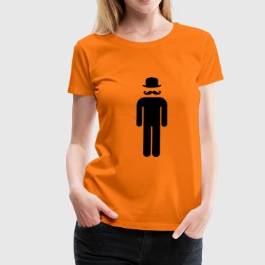 Mann Icons Mann Bart Hut Icon - Gentleman - Frauen Premium T-Shirt