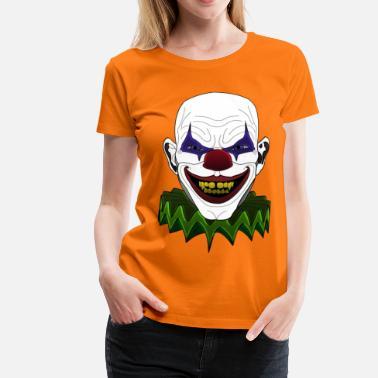 Halloween Clown skräck skräck party kostym läskigt. från 270 kr. dålig  sjuka clown - Premium T-shirt dam 0718b048d5c39