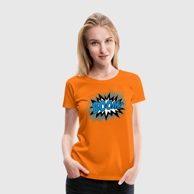 BOOM!, Comic Style Speech Bubble Bang, Kapow, Pow - Camiseta premium mujer