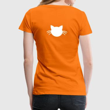 kitty kitten cute cat with whiskers solid shape - Women's Premium T-Shirt