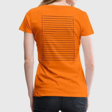 Hair length measurement - Women's Premium T-Shirt