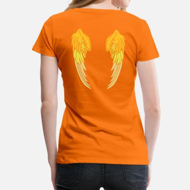 Wings Angel Wings Feather - Premium-T-shirt dam