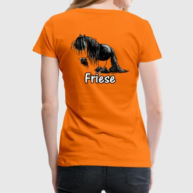 Lustiges Friesenpferd - Friese - Pferd - Frauen Premium T-Shirt