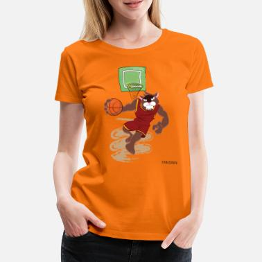 Frikast Cat Sports Basketball Game Victory Basket Gave - Premium T-shirt dame