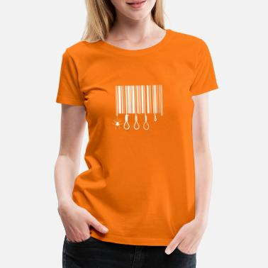 Gallows Barcode Gallows Codigo de barras Soga Horca - Women's Premium T-Shirt