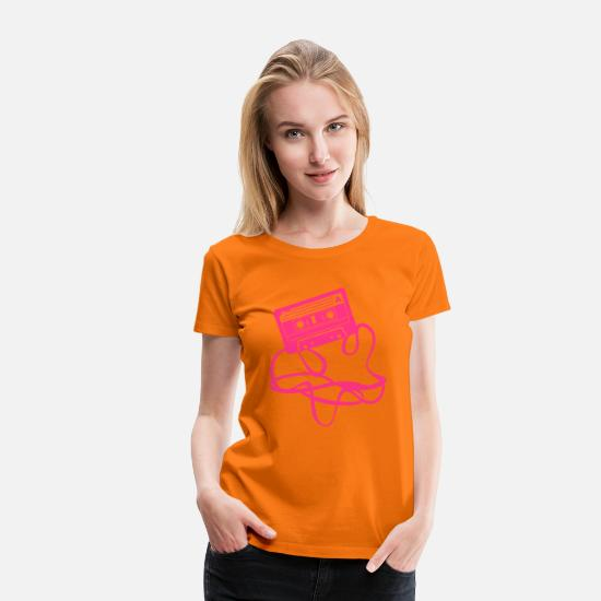 Music T-Shirts - Cassette tape audio - Women's Premium T-Shirt orange