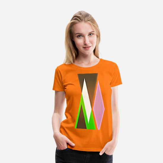 Forme T-shirts - élégant - T-shirt premium Femme orange