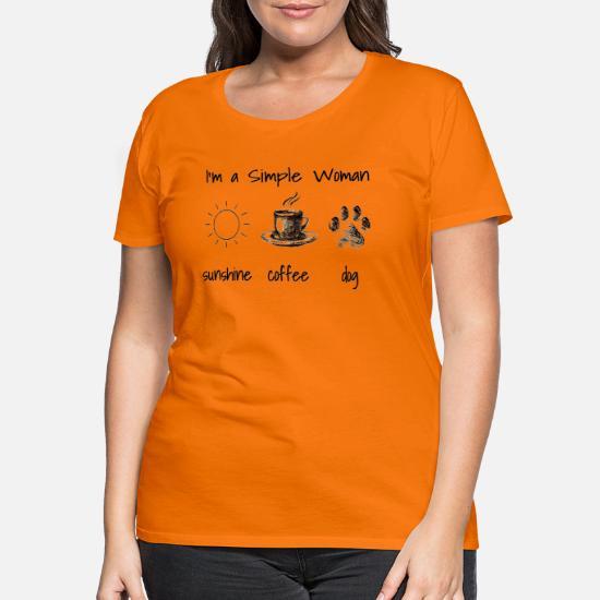 I/'m A Simple Woman Sonne Hunde Pferde Frauen T-Shirt mit gerollten Ärmeln von