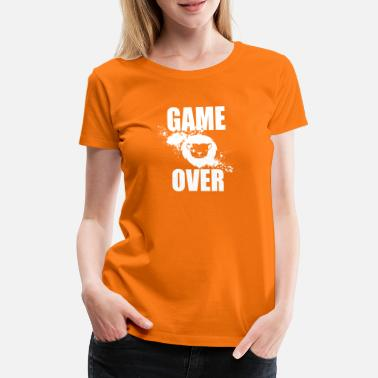 Game Over Gamer - Game Over - Premium T-shirt dame