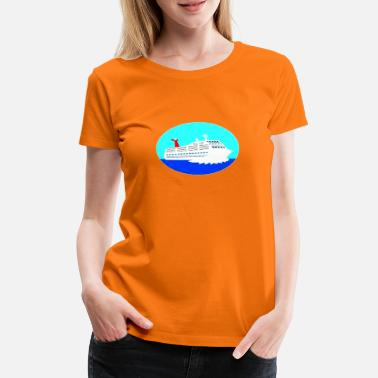 Shipping ship - Women's Premium T-Shirt