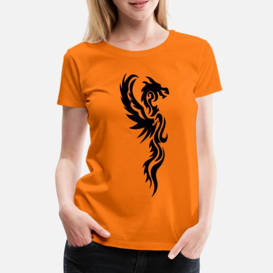 Tribal Dragon Tattoo Vrouwen Premium T Shirt Spreadshirt