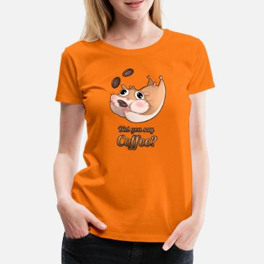 Funny Collection Kaffe hamster - Premium T-shirt dame