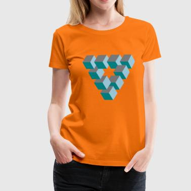 optisk illusion - Dame premium T-shirt