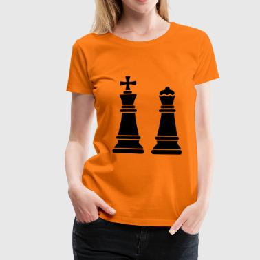 2541614 15944760 chess lady - Women's Premium T-Shirt