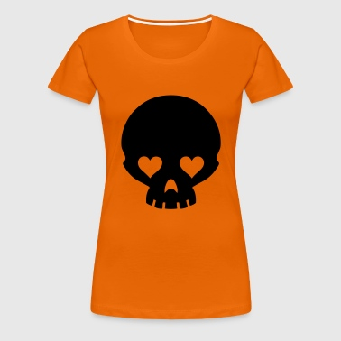 hearts eyes skull - Women's Premium T-Shirt