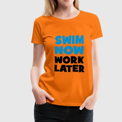 2541614 112954035 swimming - Women's Premium T-Shirt