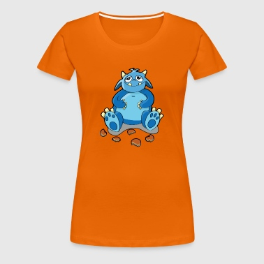Cookie monster - hunger, crumbs - Women's Premium T-Shirt